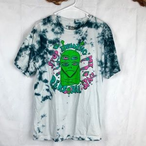 Alien Tie Dye Graphic Tee